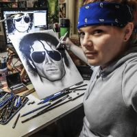 Michael Jackson drawing in progress by Cleicha