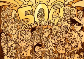 500 WATCHERS by GagaMan
