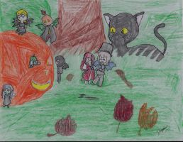 Happy Halloween Contest entry by DragonRose08