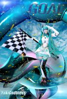 Miku Racing Queen 2012 GOAL! by yukigodbless