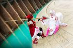 Kyoko VS Kyubey. by CrossRed