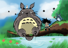Totoro and Turles by Budgies
