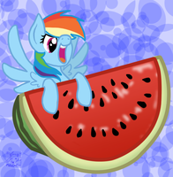 Rainbow's Watermelon by mischakins