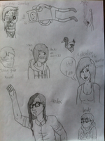 2012 School Doodles. by Cethic