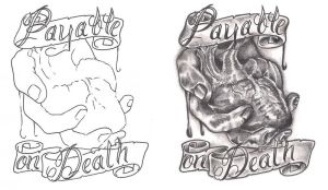 Freeebies Payable On Death Tattoo Design by TattooSavage