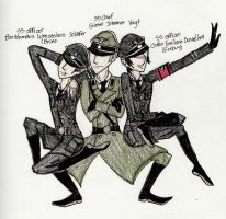 The Fabulous Nazi Trio by Happy-Masked-Mystery