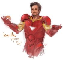 Iron Man sketch by AlyaW