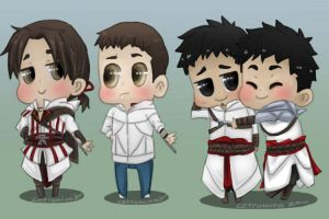 Commish: Chibi assassins by letyumino