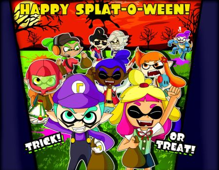 A Splatoon Halloween! by xeternalflamebryx