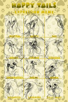 HT// Kusuma Rooster expressions by WhereRosesGrowWild