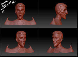 WIP - Don't starve- 3D Maxwell Bust by TheCreatorsEye