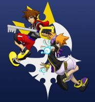 Sora and Neku by lazy-face