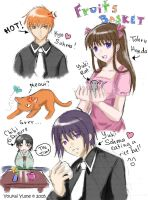 Fruits Basket: Random Sketches by YoukaiYume