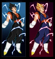 Super Vegetto and Vegetto by sasukeoron