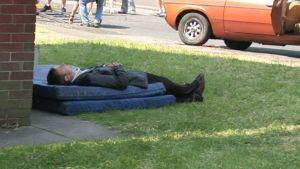 John Simm having a nap LOM by icewormie