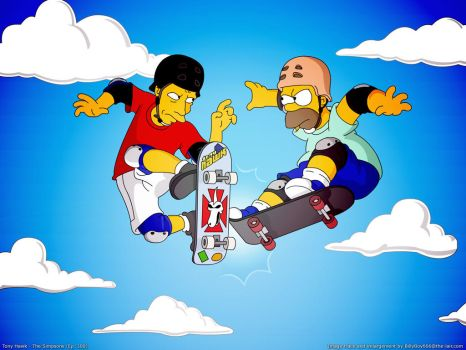Tony Hawk - The Simpsons 300 by billyboy666