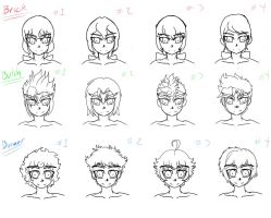 RRB hair styles by NeoEdensKing