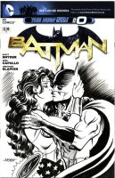 Batman and Wonder Woman Cover Sketch by LostonWallace