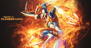 Flamedramon Explodes by GreenMotion