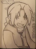 Edward Elric sketch by honey-senpai12