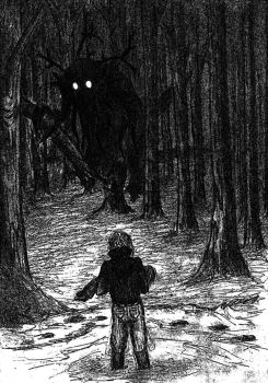 Unexpected encounter with the wendigo by Georgeact