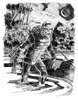Creature from the Black Lagoon by deankotz