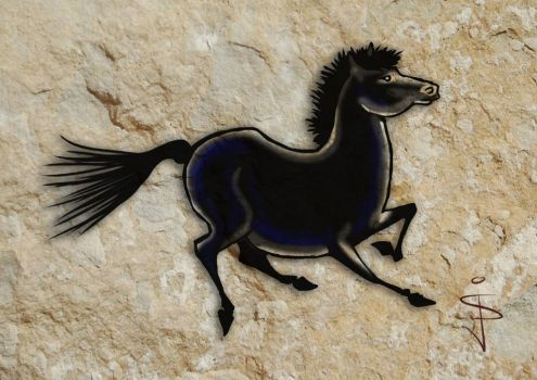 FIN-Cave-Horse-10-Stallion by NorthumbrianArtist