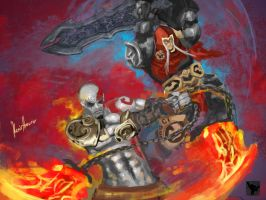 Kratos and War by superhermit