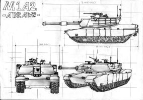 M1A2 Abrams by Xandier59