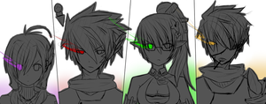Elsword Charachters by Ghashat