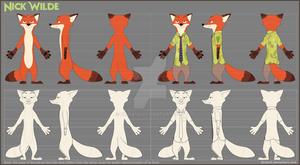 (Commission) Nick Wilde Reference Sheet by DirDash
