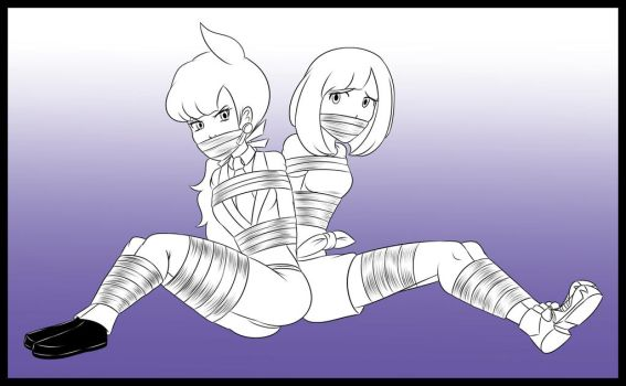 Stream Lineart - Anabel and Moon Taped by Humite-Ubie