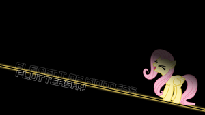 Fluttershy Element of Harmony Text Wallpaper by alexram1313