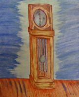 Grandfather Clock by analillithbar