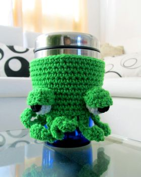 Cthulhu Coffee Cup Cozy by GothicMisty
