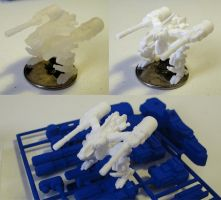 Torrent High Mobility Supression Mech Miniature by MikeTehFox