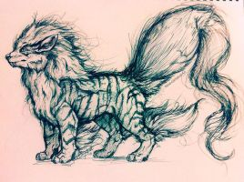Arcanine Concept Sketch by ReneCampbellArt