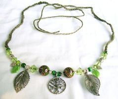 Dryad's Dwelling Necklace by merigreenleaf