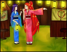 Commission for Lawman09 : Hinata and Kushina by Ego-chan