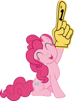 Pinkie Pie Giving a Big Hand by elegantmisreader