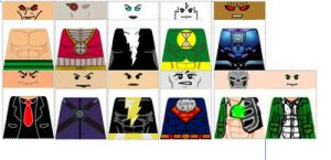Custom LEGO DC Justice League Decals Villians by Digger318