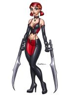 Commission: Zoey as Bloodrayne by artlekina