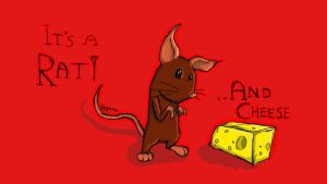 The rat and the cheese by Apples-Malus