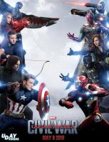 Captain America : Civil War Poster by iamuday