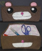 Crocheted Bear Case by 13anana