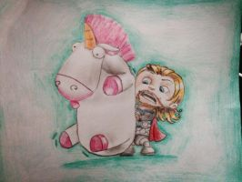 Despicable Thor Fluffy! by Laurneee