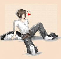 Squall socks... but he does it with cuteness! by Khaneety