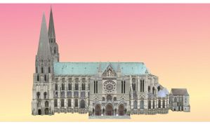 Chartres Cathedral by amiamy111