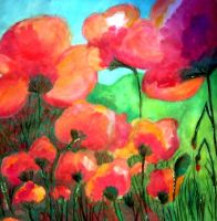 Aquarela Poppies by mae0796