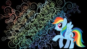 Rainbow Dash wallpaper by Coall